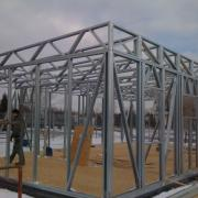 Sectional Steel Frame walls for new retail units