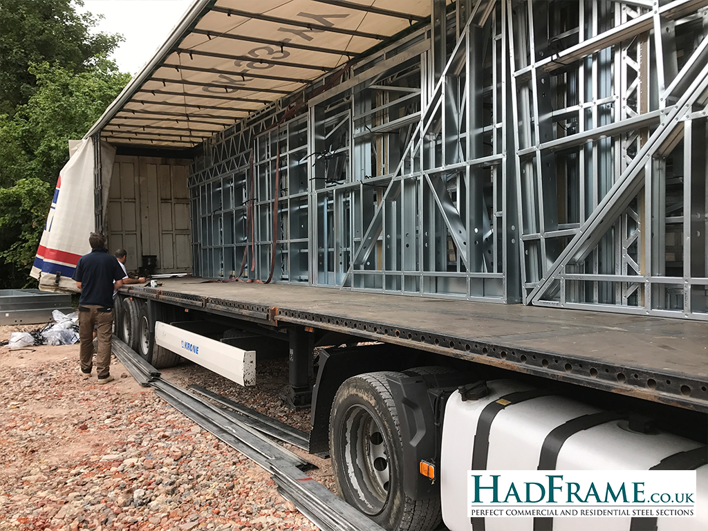 Steel arriving on site