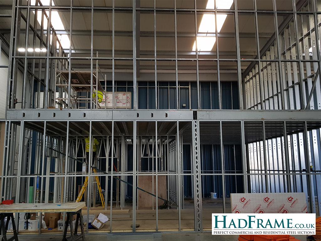 Hadframe two storey internal walls